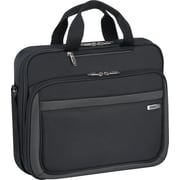 SOLO® Sterling Collection Laptop Slim Brief Case, Black, 15.6in.