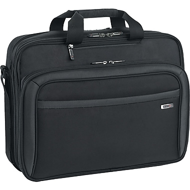 SOLO® Sterling Collection CheckFast™ Laptop Portfolio, Black, 17in.