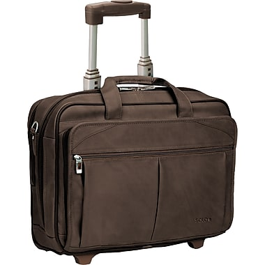 SOLO® Classic Collection CheckFast™  Rolling Laptop Case, Espresso, 15.6in.