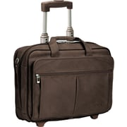 SOLO® Classic Collection CheckFast™  Rolling Laptop Case, Espresso, 15.6