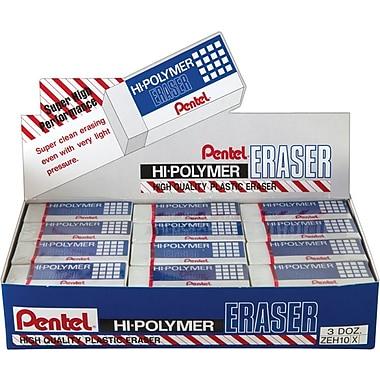 Pentel® Vinyl Erasers, 36/Pack