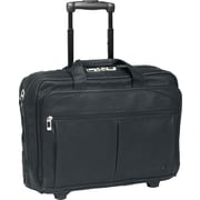 Solo Executive Leather Rolling Laptop Case , Black (D529-4)
