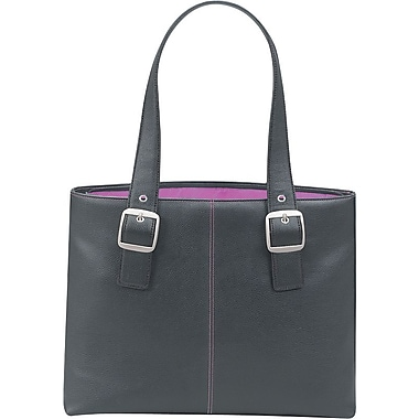 SOLO® Classic Collection Ladies Laptop Tote, Black/Magenta, 16in.