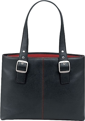 Solo Classic Laptop Tote Black Red Lining K709 4 17