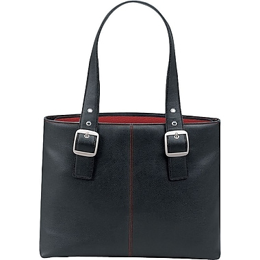 SOLO® Classic Collection Ladies Laptop Tote, Black/Red, 16in.
