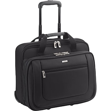 SOLO® Classic Collection Rolling Laptop Case, Black, 17in.