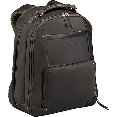 SOLO®  Vintage Collection Leather Laptop Backpack, Espresso, 15.6in.