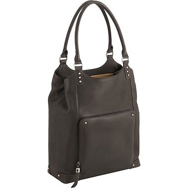 Solo Executive Leather Laptop Poly Bucket Tote, Espresso (VTA804-3)