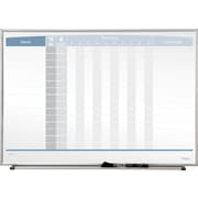 "Quartet® In/Out Magnetic Employee Tracking Board, 23"" X 16"""