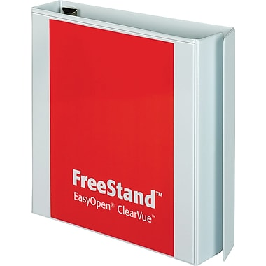 Cardinal 4in. Free Stand Secure Binder with Easy Open Locking Slant-D Rings, White