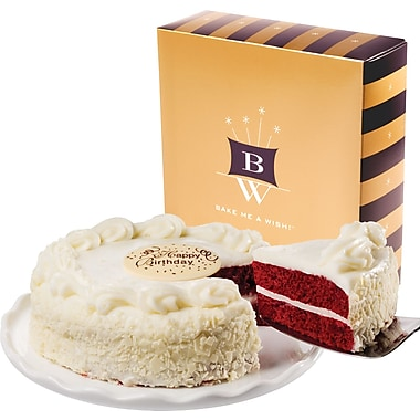 Bake-Me-A-Wish!™ 7in. Happy Birthday Red Velvet Cake