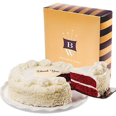 Bake-Me-A-Wish!™ 7in. Thank You Red Velvet Cake