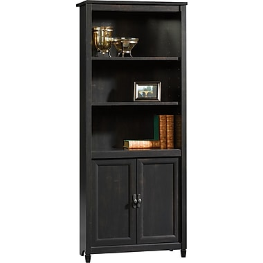 Sauder® Edgewater Collection Library with Doors, Estate Black