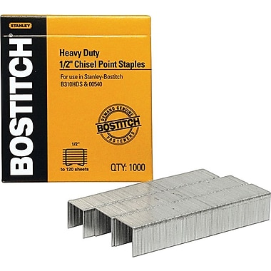 Stanley Bostitch® Heavy-Duty Premium Staples, 1/2in.