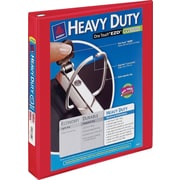 "1"" Avery® Heavy-Duty View Binder with One Touch™ EZD® Rings, Red"
