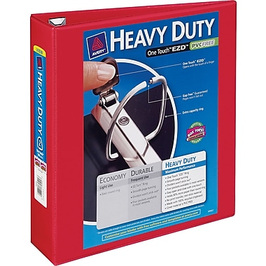 2in. Avery® Heavy-Duty View Binders with One Touch™ EZD® Rings, Red