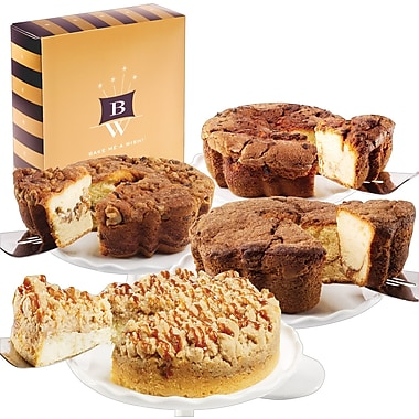 Bake-Me-A-Wish!™ 8in. Gourmet Pack Coffee Cakes, Assorted 4/Pack