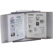 Tarifold Crystal Desk Reference Unit, Letter, Clear, 20 Pockets