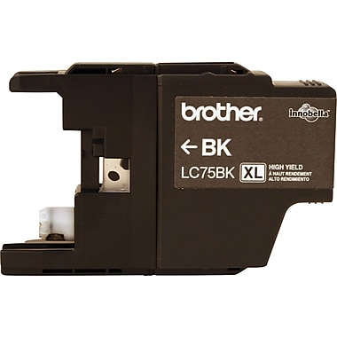 Brother Ink Cartridge, Black, High Yield (LC75BKS)