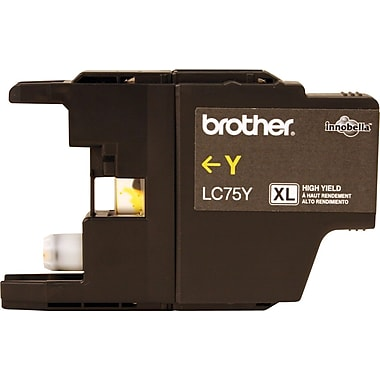 Brother LC75Y Yellow Ink Cartridge, High Yield