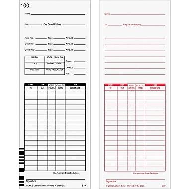 Time Cards for Lathem® 7000E and 7500E Time Clocks
