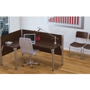 Bestar Pro-Biz Office System Single Left L-Desk Workstation, 3/4 Wall, Chocolate