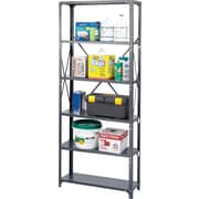 Safco® Steel Shelving, 6 Shelves, 36 x 18