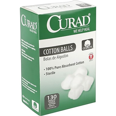 Curad® Sterile Cotton Balls, 1in.