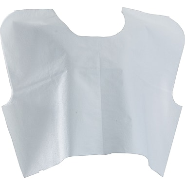 Medline® Disposable Patient Capes, Whtie, 30in.x21in.