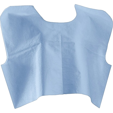 Medline® Disposable Patient Capes, Blue, 30in.x21in.