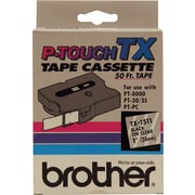 "Brother TX1511/CX1511 1"" Tape, Black on Clear"