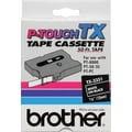 Brother 1/2in. White on Black  tape