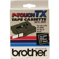 Brother 1in. White on Black tape