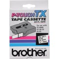 Brother 3/4in. Black on White  tape