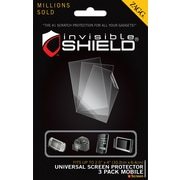 ZAGG invisibleSHIELD™ Universal Screen Protectors, 3 Pack