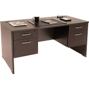 Regency Sandia Complete Office Solution, 66 Double Pedestal Desk, Mocha Walnut