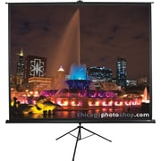 "Elite Screens Tripod Series 85"" Diagonal 1:1 Aspect Tripod Projector Screen (Black)"