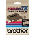 Brother 1/2in. White on Clear tape