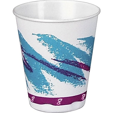 SOLO® Trophy Jazz Hot/Cold Foam Cups, 8 oz., 100/Pack