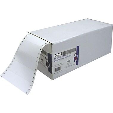 Avery® – Étiquettes blanches 4014 pour imprimante matricielle, 4 po x 1 7/16 po, paq./5000