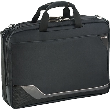 SOLO® Vector Collection CheckFast™ Laptop Clamshell, Black, 17in.