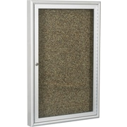 Best-Rite Enclosed Rubber-Tak Bulletin Board, Aluminum Frame, 3' x 2'