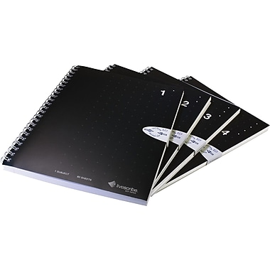 Livescribe™ Single Subject A5 Size Notebook, 4-Pack, Numbers 1 – 4