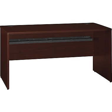 Bush Quantum 60in.W Credenza Desk, Harvest Cherry