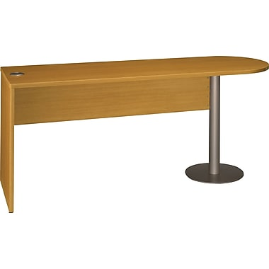 Bush Quantum Series Fully Assembled Free Standing Peninsula, Modern Cherry