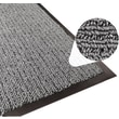 Apache Mills Step 2 Foyer Mat, Brush & Clean, Charcoal, 4' x 6'