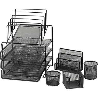 Staples® Mesh Wire Desk Set Combo, 5-Piece Set