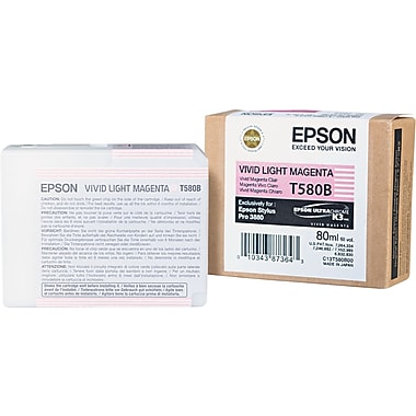 Epson T580 80ml Vivid Light Magenta Ink Cartridge (T580B00)