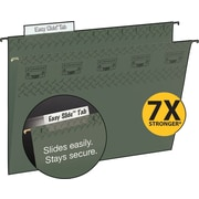 Smead TUFF® Hanging File Folders with Easy Slide™ Tabs, Legal, 3 Tab, Standard Green, 20/Box