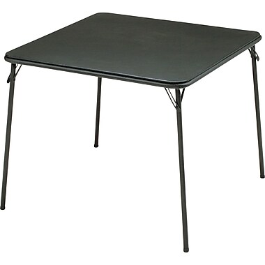Sudden Solutions 34in. Folding Card Table, Black